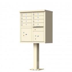 8 Tenant Door Standard Style CBU Mailbox (Pedestal Included) - Type 1 - 1570-8AF
