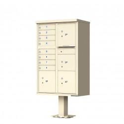 8 Tenant Door Standard Style CBU Mailbox (Pedestal Included) - Type 6 - 1570-8T6AF