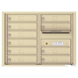 10 Tenant Doors with Outgoing Mail Compartment - 4C Wall Mount 6-High Mailboxes USPS Approved - 4C06D-10  !!!