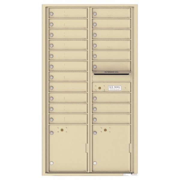 20 Tenant Doors with 2 Parcel Lockers and Outgoing Mail Compartment - 4C Wall Mount Max Height Mailboxes - 4C16D-20   !!!