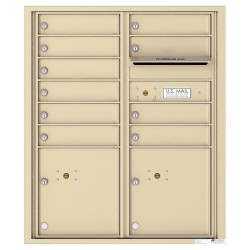 10 Tenant Doors with 2 Parcel Lockers and Outgoing Mail Compartment - 4C Wall Mount ADA Max Height Mailboxes - 4CADD-10  !!!