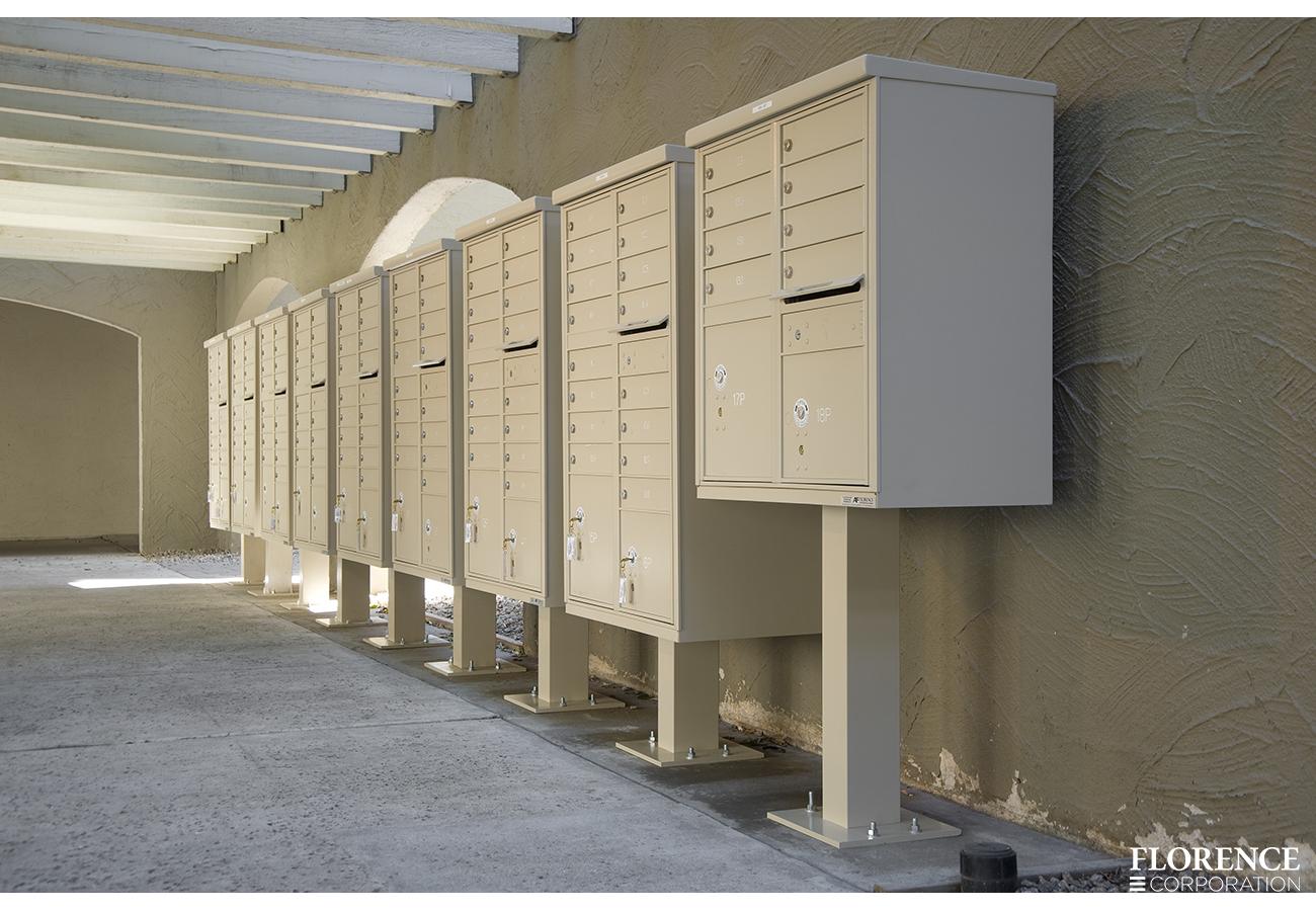 vital 1570 Cluster Box Units in Sandstone finish